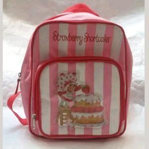 Strawberry Shortcake Pink Striped Backpack Bag